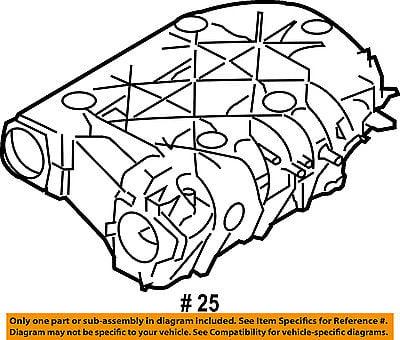 Chrysler Oem 04 06 Pacifica Intake Manifold Plenum 4591822ai