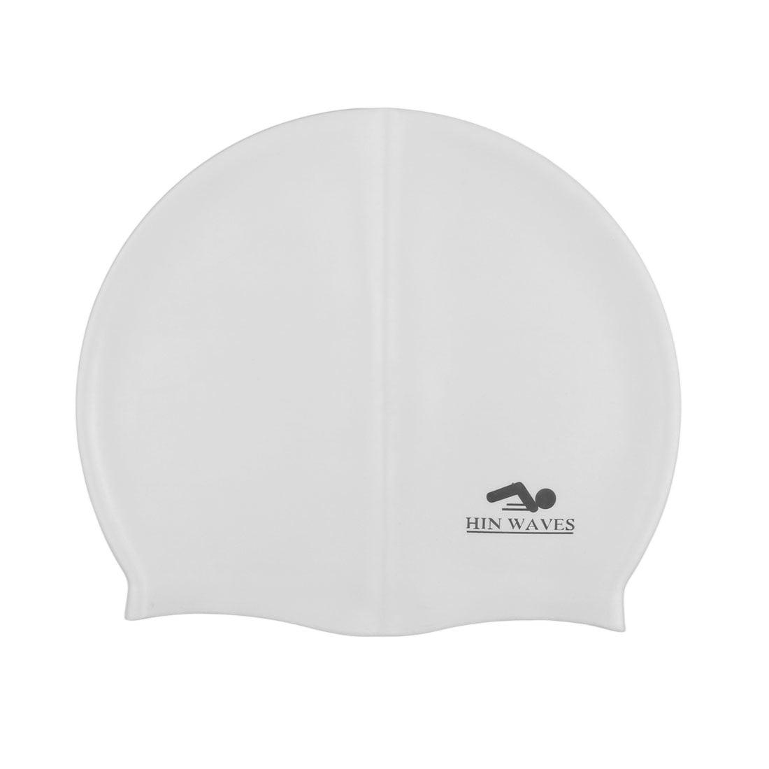 Unique Bargains Silicone swimming Hat Hair Protector Swim Cap for Long Hair Women Men by Unique-Bargains