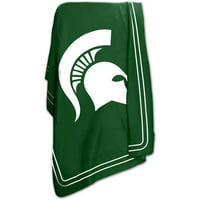 "Logo Chair NCAA Michigan State 50"" x 60"" Classic Fleece Throw"