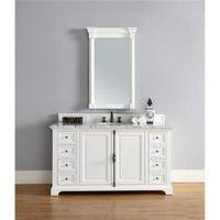 James Martin 238-105-V60S-CWH 60 in. Providence Single Vanity Cabinet, Cottage White