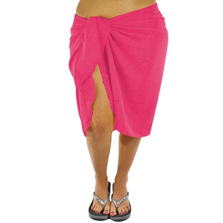 Plus Size Sheer Knee Length Cover Up Sarong Wrap For