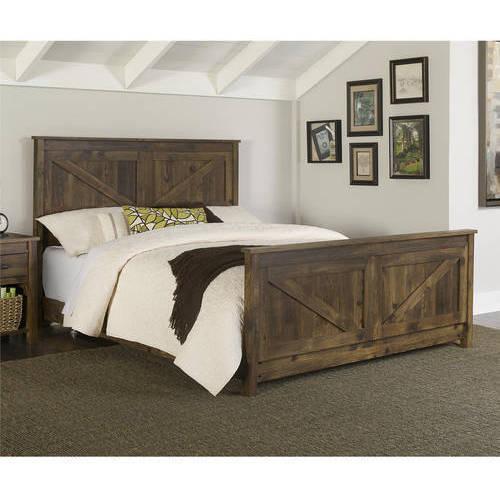 Better Homes and Gardens Falls Creek Queen Bed, Weathered Dark Pine -  Walmart.com