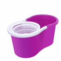 Clearance! 360 Spin Mop with Bucket & Dual Mop Heads Pink-A