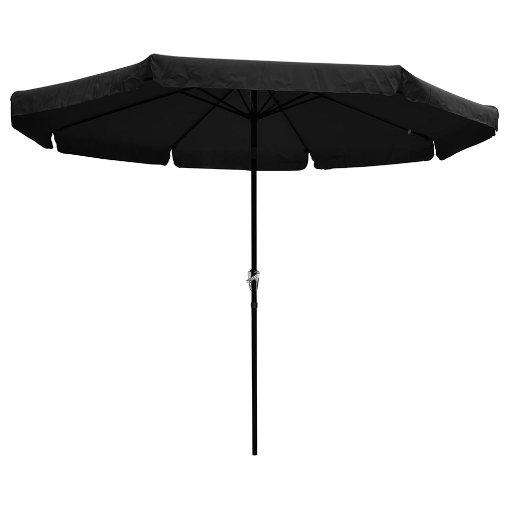 Yescom 10ft Aluminum Outdoor Patio Umbrella w  Crank Tilt Deck Market Yard Beach Pool Cafe by Yescom