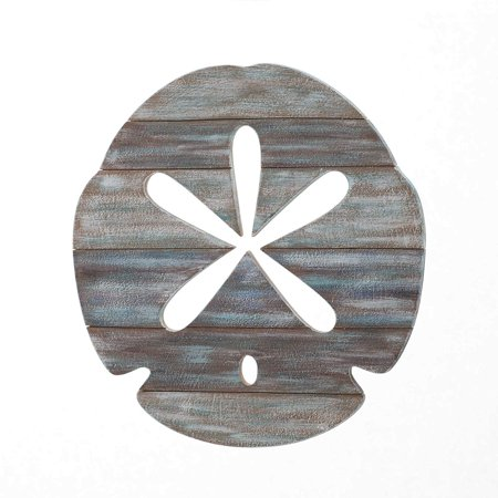 Slatwood Panel Wall Art in Weathered Ivory By Sand Dollar - Sand Dollars For Sale