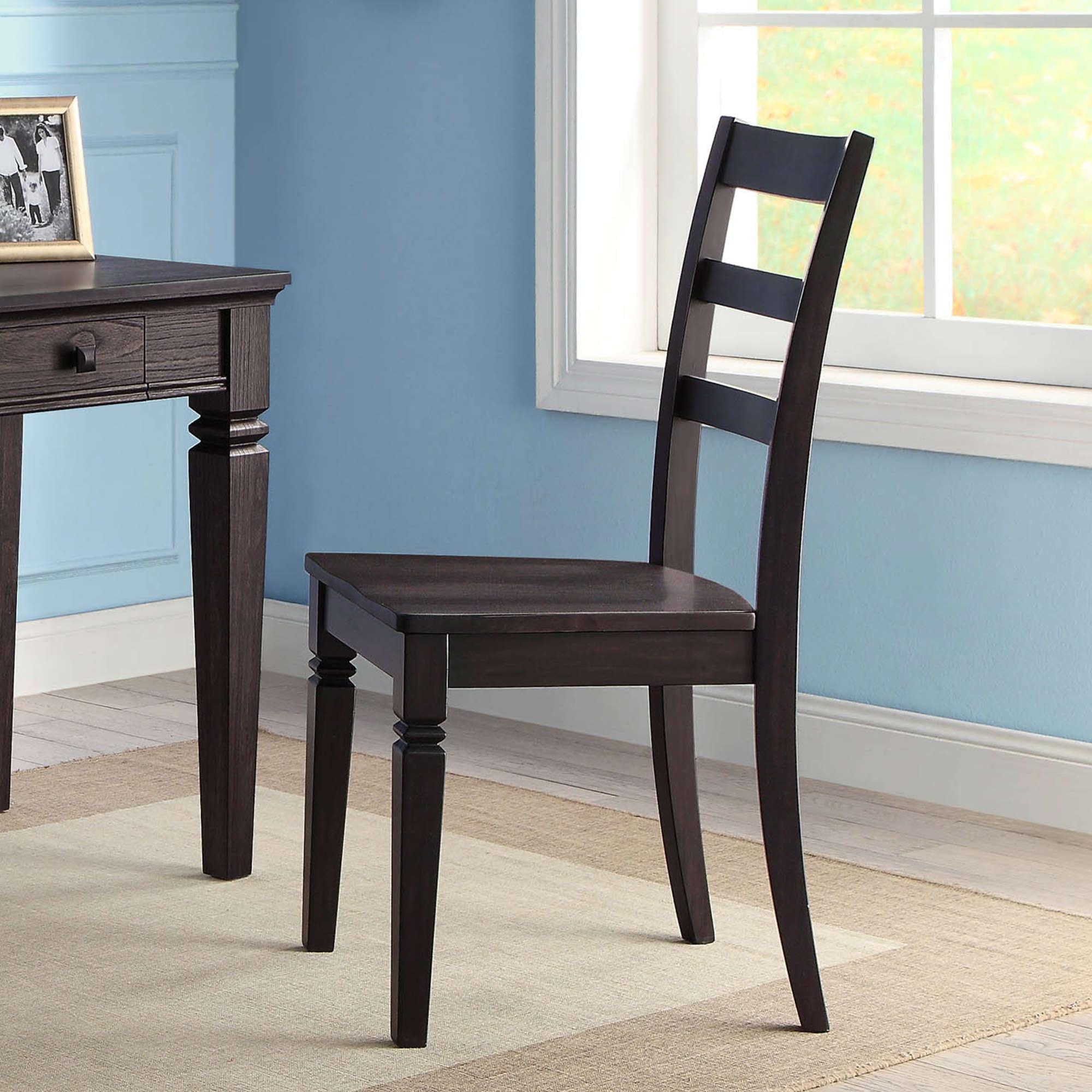 Picture of: Kendal Classic Cottage Style Wooden Desk Chair Dark Espresso Walmart Com Walmart Com