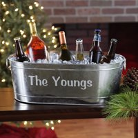 Personalized Galvanized Family Name Beverage Tub or Tub with Stand