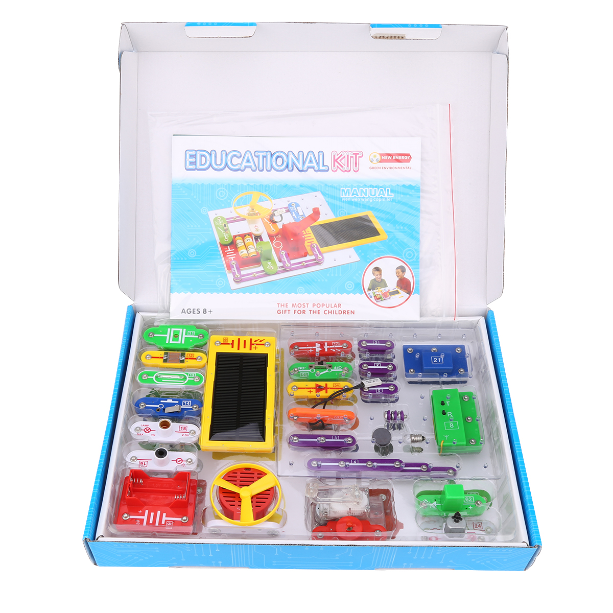 Virhuck W-688 Funny Electronics Discovery Kit Science Educational Toy Smart DIY Block Kit for Kids