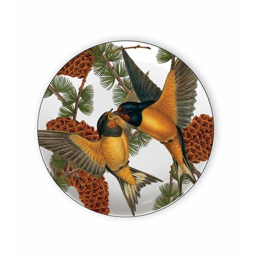 Caskata Pine Birds 6.75'' Melamine Appetizer Plate (Set of 4)