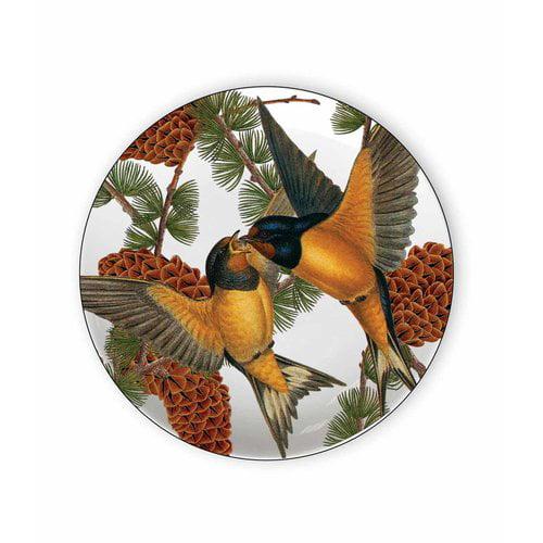 Caskata Pine Birds 6.75'' Melamine Appetizer Plate (Set of 4)