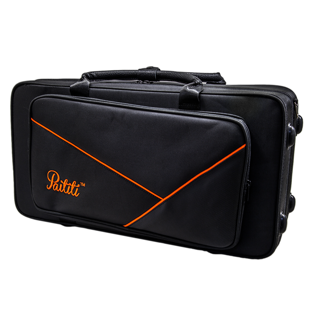Paititi Lightweight Alto Saxophone Case, Strong, Durable with Backpack Straps Black/Yellow