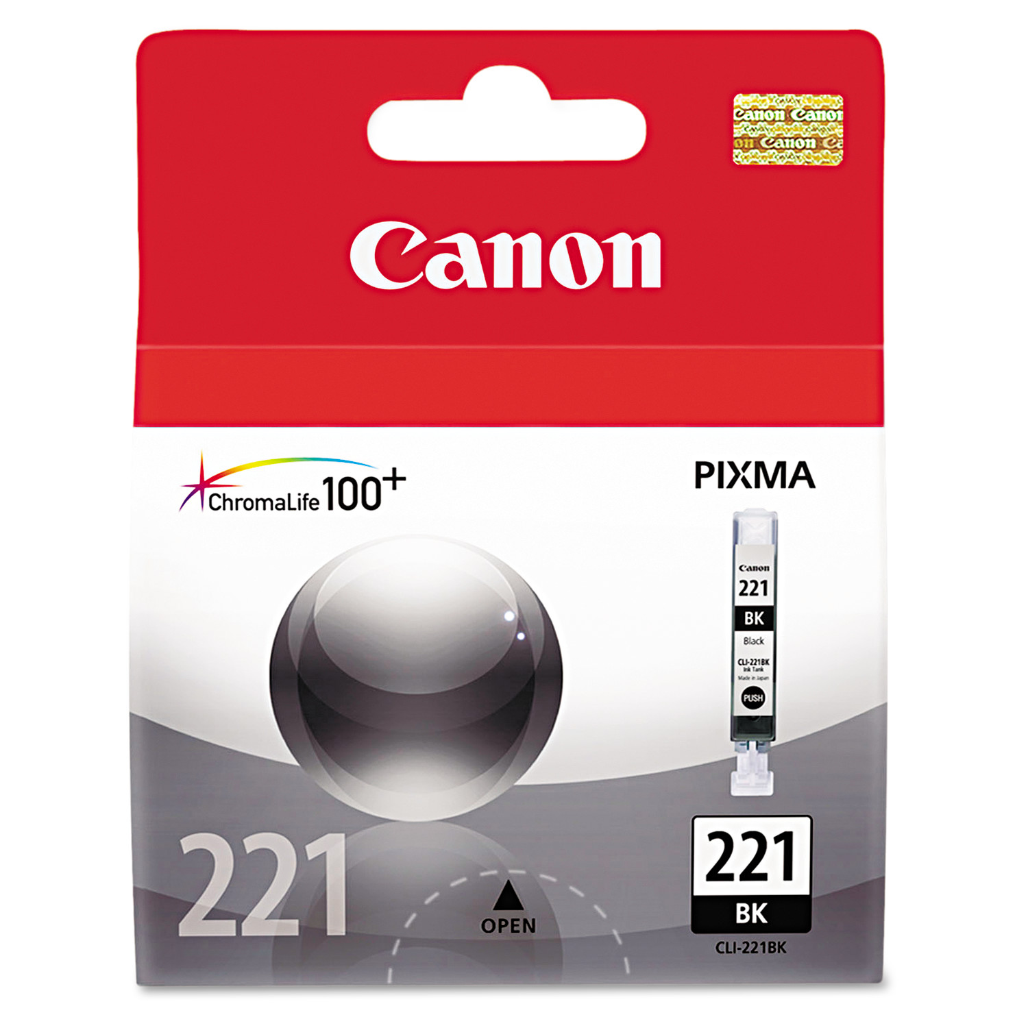 Canon 2946B001 (CLI-221) Ink, Black