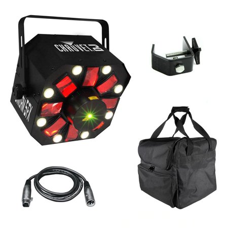 Chauvet SWARM 5 FX RGBAW LED DJ Derby Laser Light + Travel Bag + Cable + (Chauvet Swarm Led)