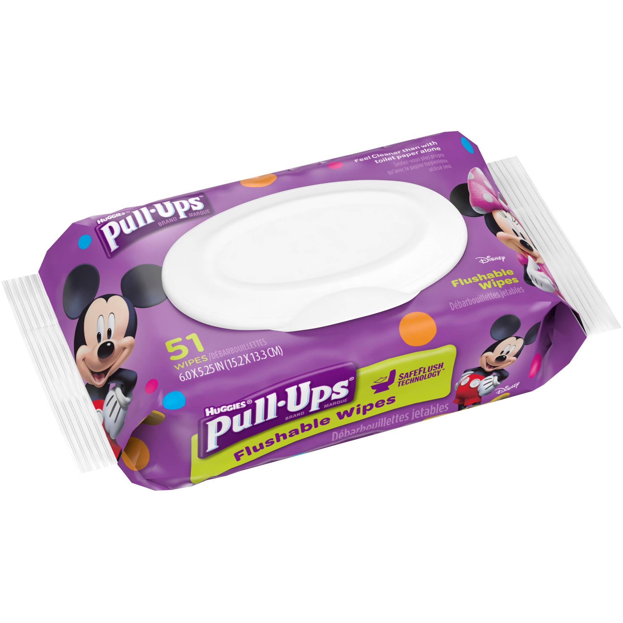 Pull-Ups? Big Kid* Flushable Wipes, Pouch