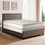 GOWTUN, 12-Inch medium plush Double sided Pillowtop Innerspring Mattress And 8-Inch Fully Assembled Boxspring/Foundation Set, Twin XL Size