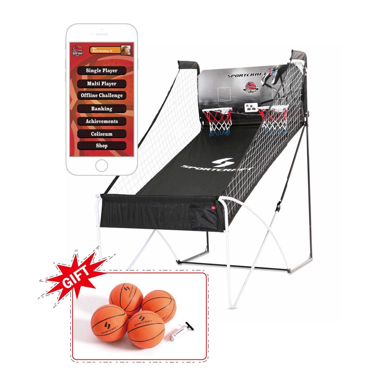 Sportcraft Double Hoop Shot Basketball Arcade Conventional + Online App Game Sportcraft