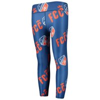 FC Cincinnati ZooZatz Girls Youth Slogan Repeat Leggings - Blue