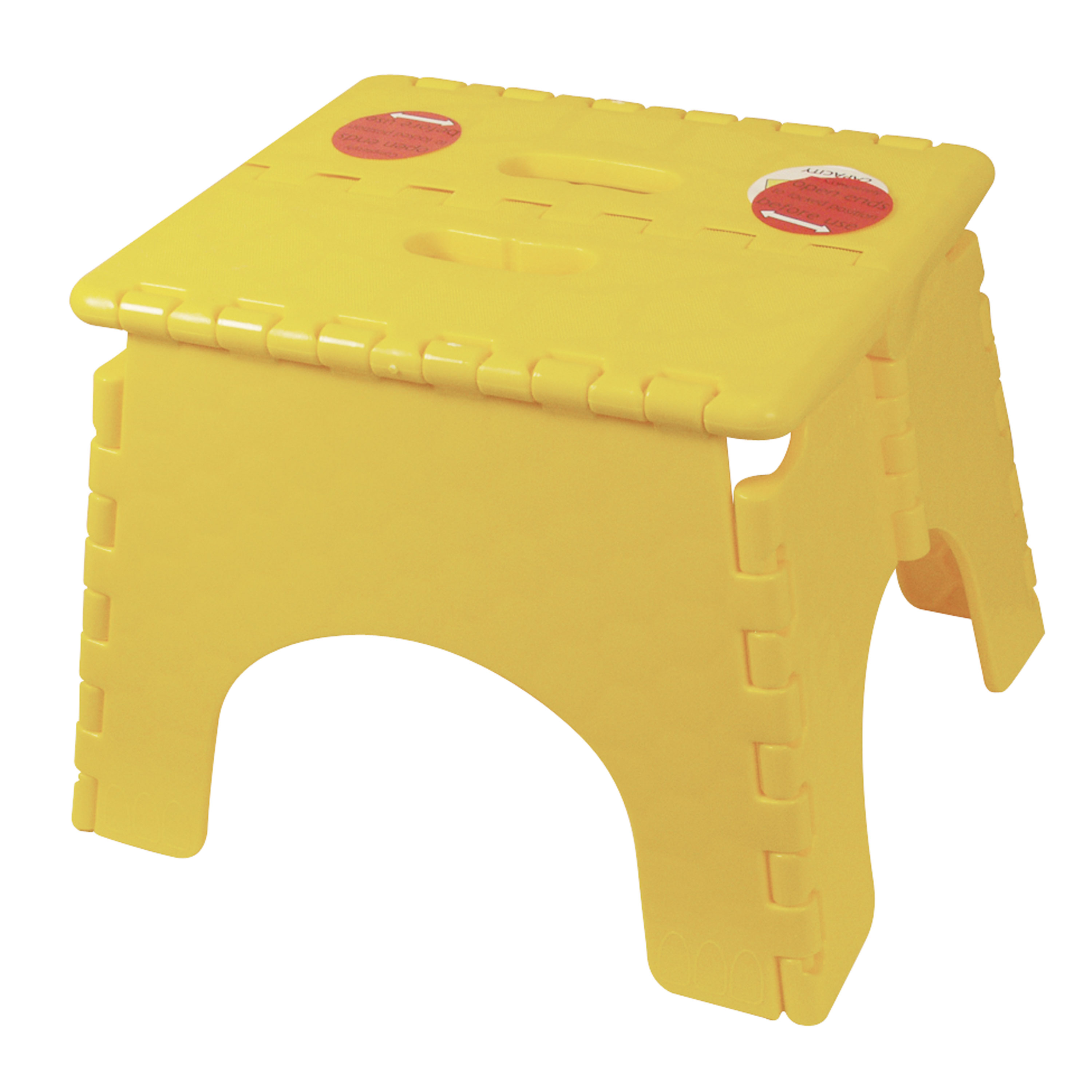 "B&R Plastics 101-6Y-YELLOW E-Z Foldz Step Stool - 9"", Yellow"