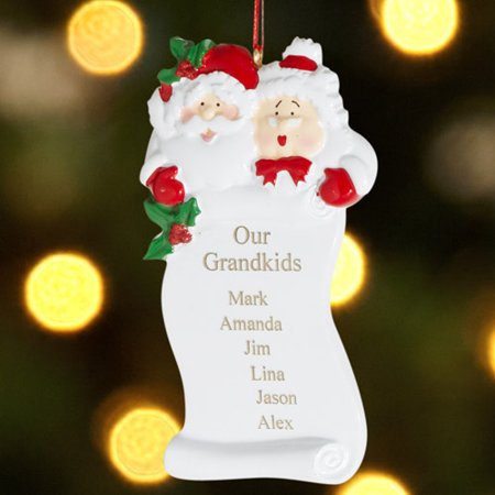 - Personalized Grandparents Christmas Ornament