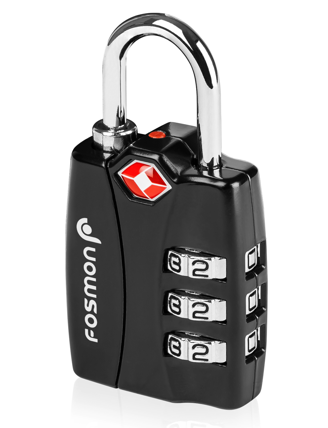 TSA Approved Luggage Locks, Fosmon Open Alert Indicator 3 Digit Combination Padlock Codes with Alloy Body for Travel Bag, Suit Case, Lockers, Gym, Bike Locks or Other