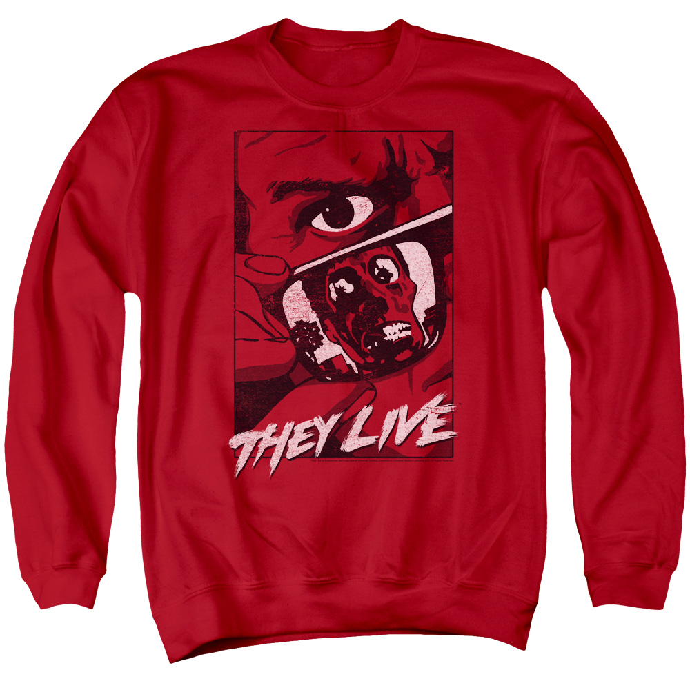 They Live Graphic Poster Mens Crewneck Sweatshirt