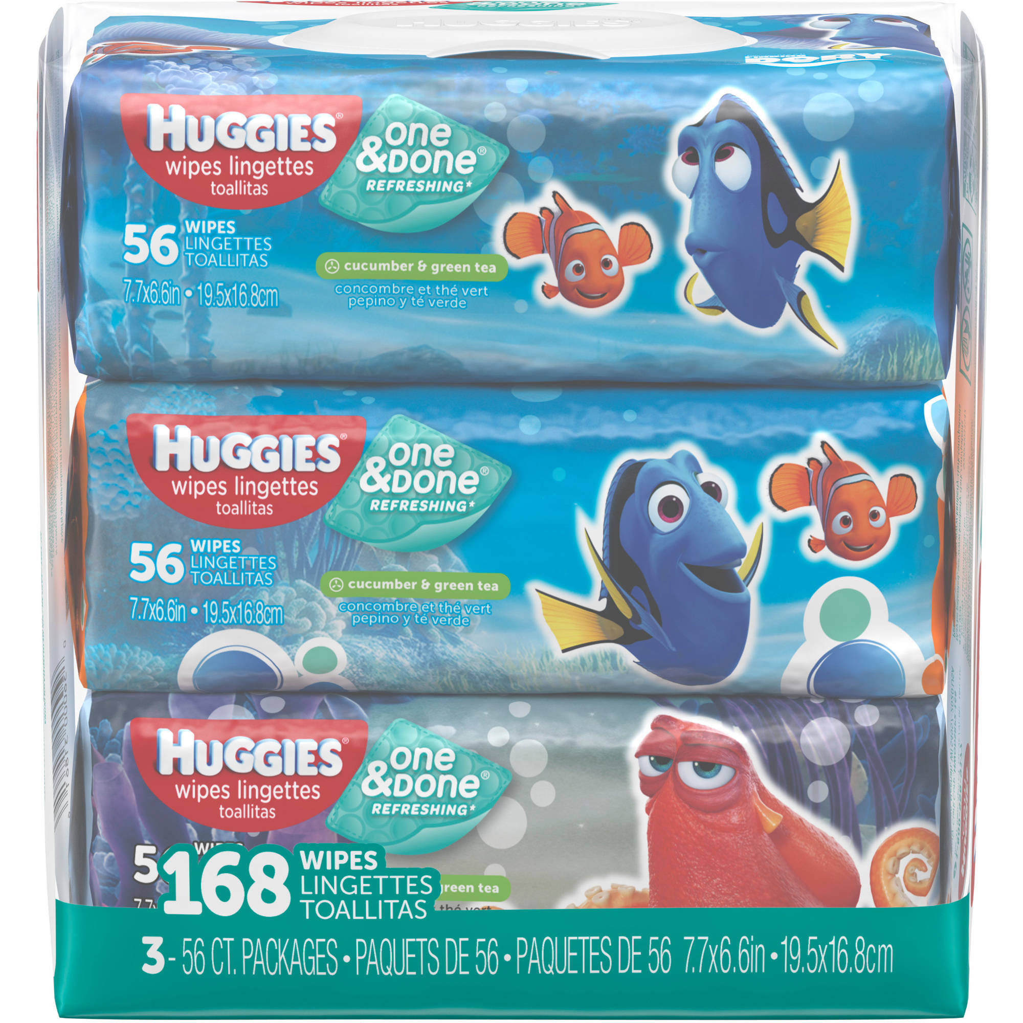 HUGGIES One & Done Refreshing Baby Wipes, 56 sheets, (Pack of 3)