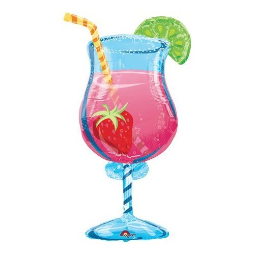 "Anagram Tropical Cooler Super Shape Balloon - 20"" X 35"""