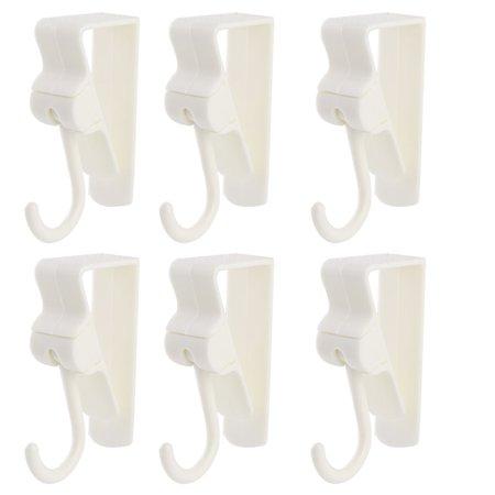 - Unique Bargains Kitchen Bedroom Wardrobe Plastic Door Hook Hanger Pothook Organizer White 6pcs