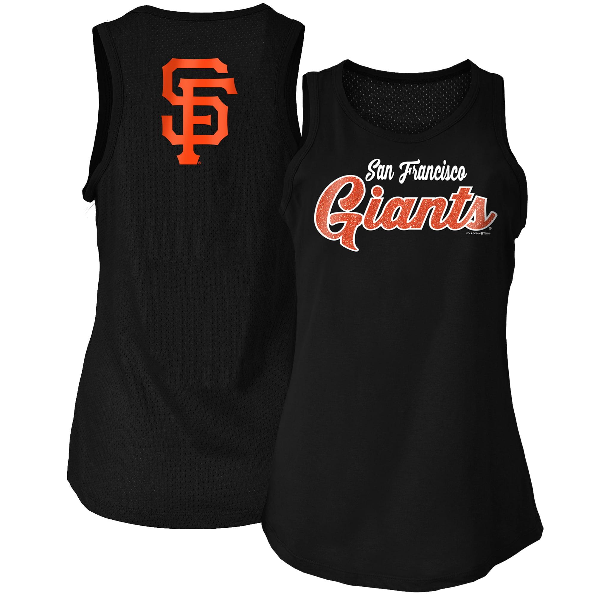 San Francisco Giants New Era Women's Mesh Back Baby Jersey Tank Top - Black