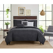 Mainstays 10-Piece Bed in a Bag Gray Textured, Queen with Sheets, Shams, Pillowcases, Comforter and 3 Decorative Pillows