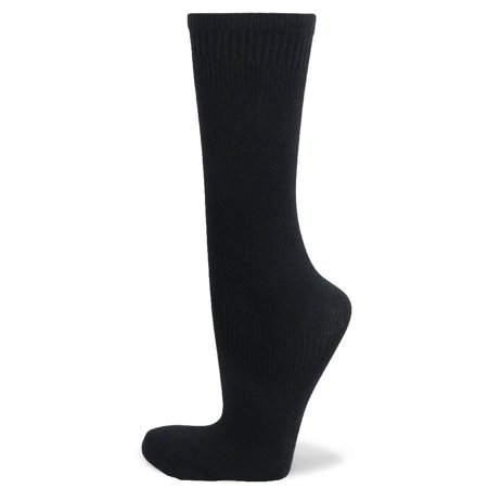 Couver Kids Youth Knee High Soccer Sock for Boy, Black, Age 3 - 5