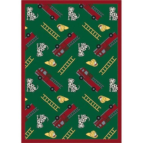 Joy Carpets Hook and Ladder Kids Area Rug