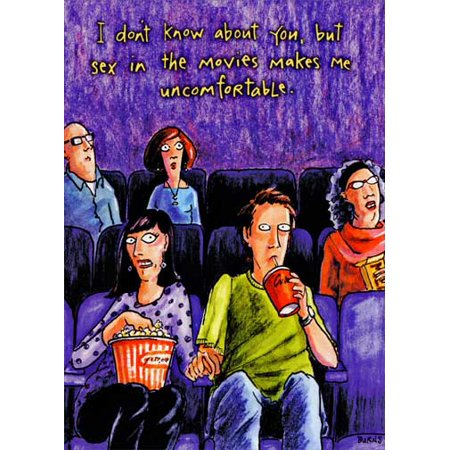 Oatmeal Studios Couple at Movie Funny / Humorous Birthday Card](Funny Movie Couples For Halloween)
