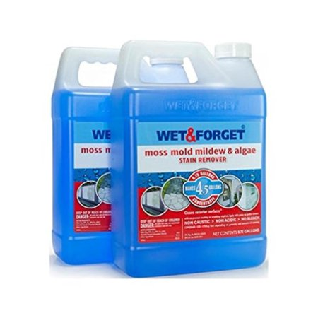 Set of 2 Wet and Forget Moss, Mildew and Algae Stain Remover, Set of Two (0.75 gallon) Concentrate bottles that make over 4.5 gallons each By WET FORGET