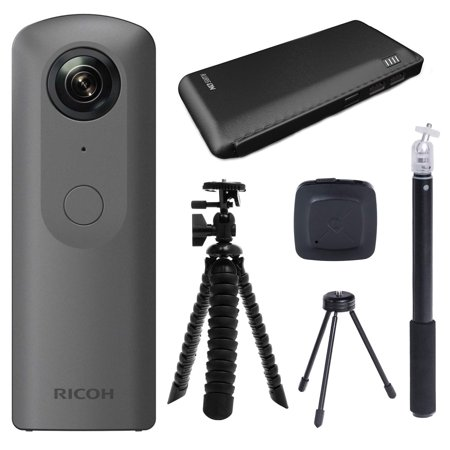Ricoh THETA V 360 4K Spherical VR Camera with Charger and Tripod Bundle