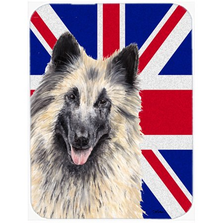Belgian Tervuren with English Union Jack British Flag Mouse Pad, Hot Pad or Trivet SC9849MP