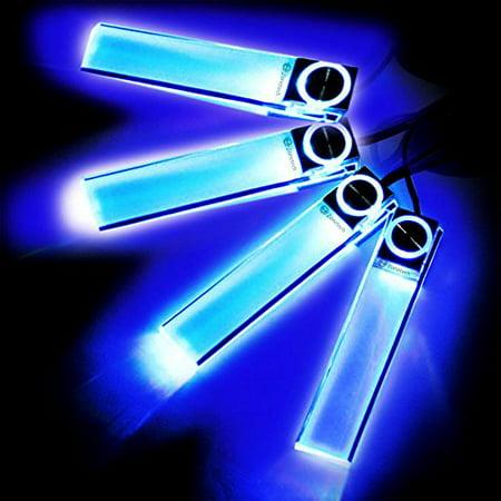 zone tech 4in1 12v car auto interior led atmosphere lights floor decoration lamp blue. Black Bedroom Furniture Sets. Home Design Ideas