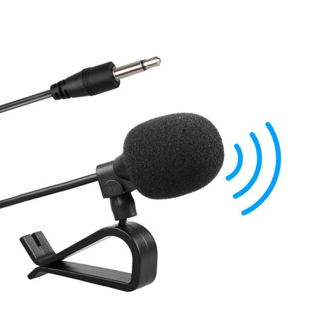 (TSV 10 Feet 3.5mm Microphone Car Stereo GPS Bluetooth Enabled Audio DVD External Mic)