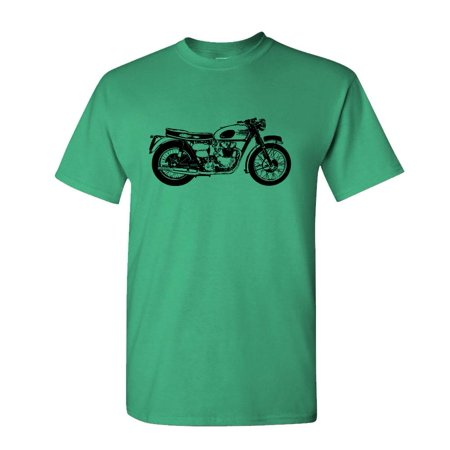 Diamond Leather Motorcycle Shirt (OLD MOTORCYCLE - retro vintage hipster style - Cotton Unisex T-Shirt )