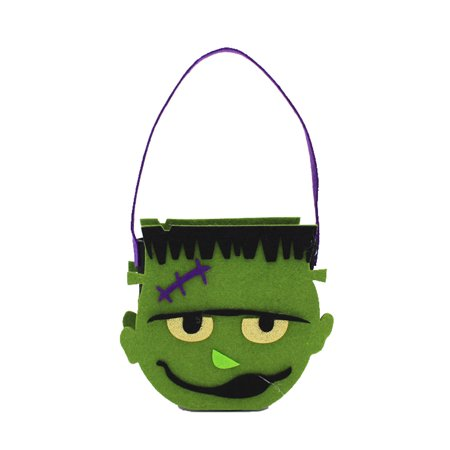 Halloween Pumpkin Bag Kids Candy Handbag Bucket Children Funny Candy Bag (Funny Pumpkin Designs For Halloween)