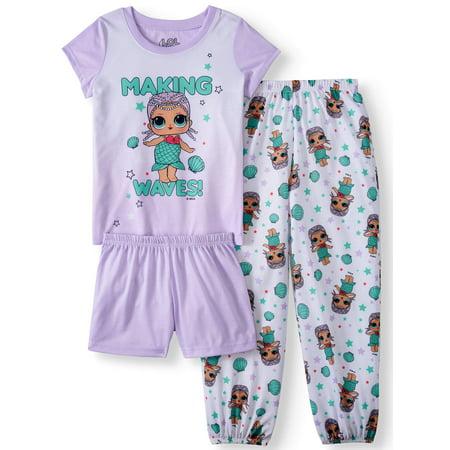 Girls' LOL Surprise 3 Piece Pajama Sleep Set (Little Girl & Big Girl)
