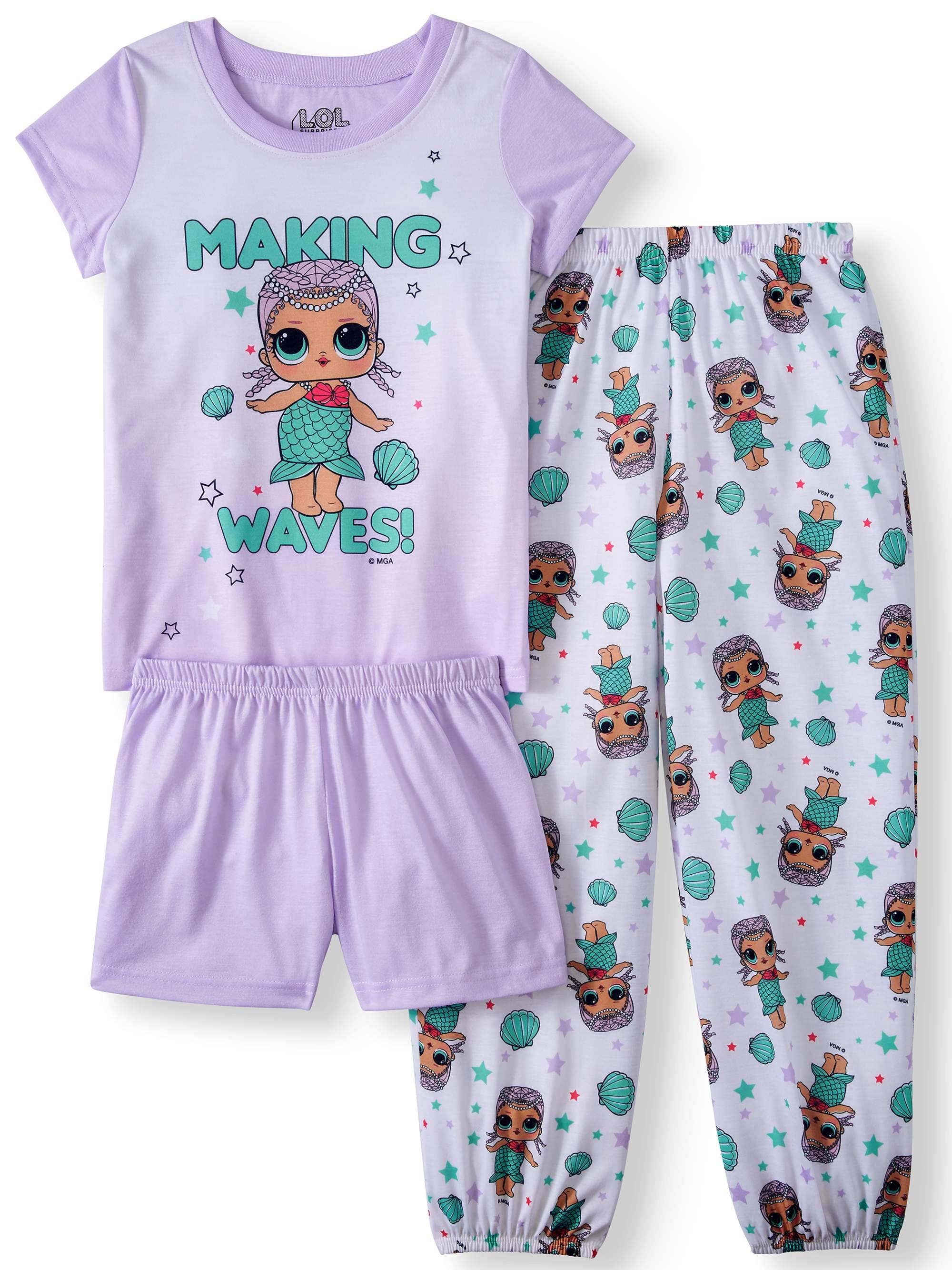 LOL Surprise! Girls' 3-Piece Pajama Sleep Set