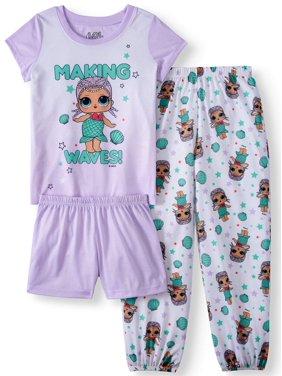 13fa4923fda1b Product Image Girls' LOL Surprise 3 Piece Pajama Sleep Set (Little Girl &  Big ...