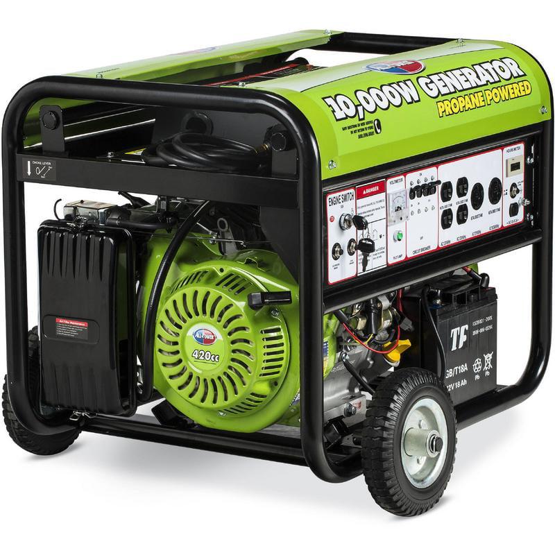All Power America APG3590CN, 10000 Watt Propane Generator, 10000W Portable Generator for Home emergency power back up, RV Generator, EPA Certified