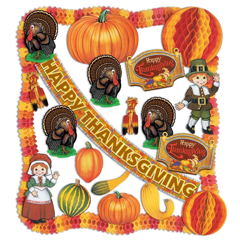 24-Piece Pilgrims, Turkeys and Pumpkins Fire Resistant Th...