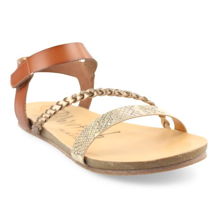 Blowfish Malibu Womens Goya Sandals, Scotch Amber Dyecut/Dt Rose Mir, 7 M US