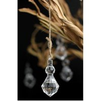 Acrylic Crystal Charms Chandelier Drops, Clear, 2-1/4-inch, 18-Piece