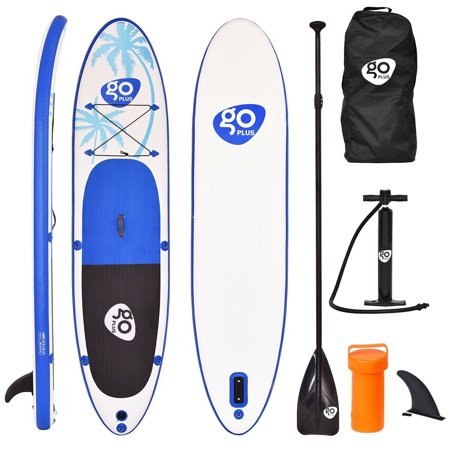 Costway Goplus 11' Inflatable Stand Up Paddle Board SUP w/ Fin Adjustable Paddle Backpack](goplus inflatable paddle board)