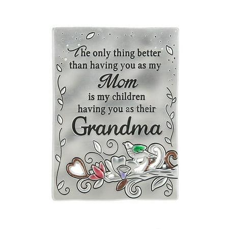Ganz Inspirations Family Grateful Heart Mini Message Plaque Magnet Grandma-ER59715 - Heart Magnets