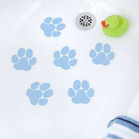 Slipx Solutions Adhesive Paw Print Bath Treads 6 Count Walmart Com